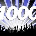 久しぶりにブログの1日の訪問者数が1000名超えました。