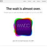 アップルからWWDCのチケット販売案内のメールが来ました