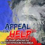 フィリピンの赤十字に寄付しました