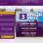 カンボジアの飛行機の国内線のチケットの取り方