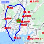 広島人が東京に行ったときの距離感を掴む地図